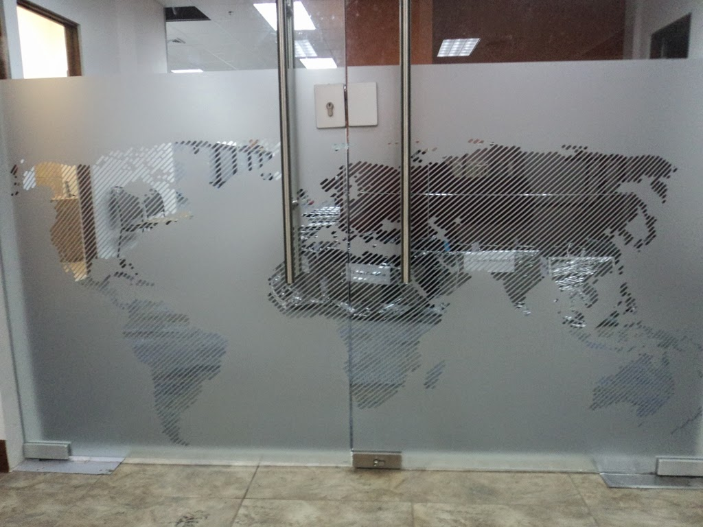 Puertas De Vidrio Para Baño Heredia:Intertec Intl Cliente Satisfecho ~ SandBlasting/Vinyl Frost