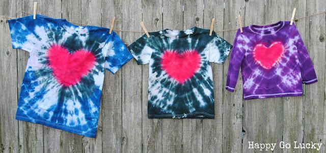 heart tie-dye t-shirts