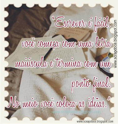 Foto Mensagem sobre Escrever/Dia do Escritor com frase de Pablo Neruda para compartilhar no Facebook