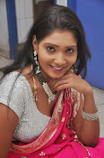 Actress Nisha Latest Photos in Pink saree-thumbnail-1