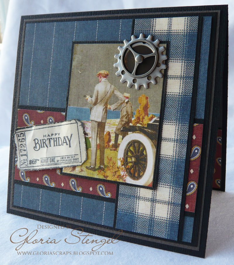 Scraps Of Life Manly Birthday Card