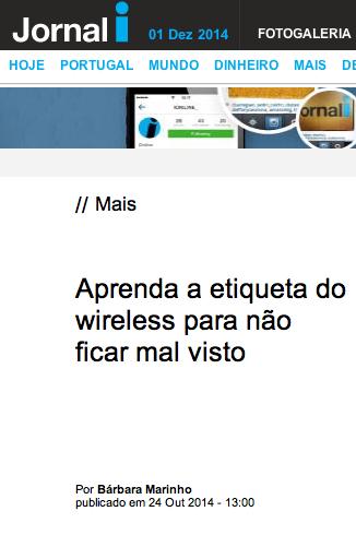 WIRELESS - Jornal i