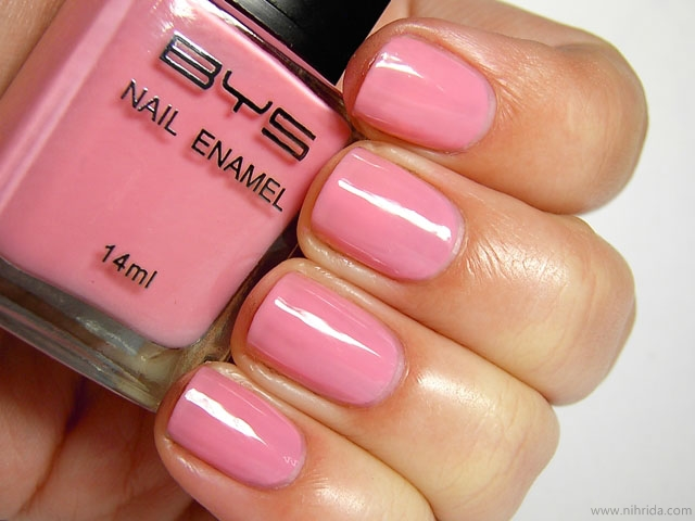 BYS Nail Polish in Baby Pink