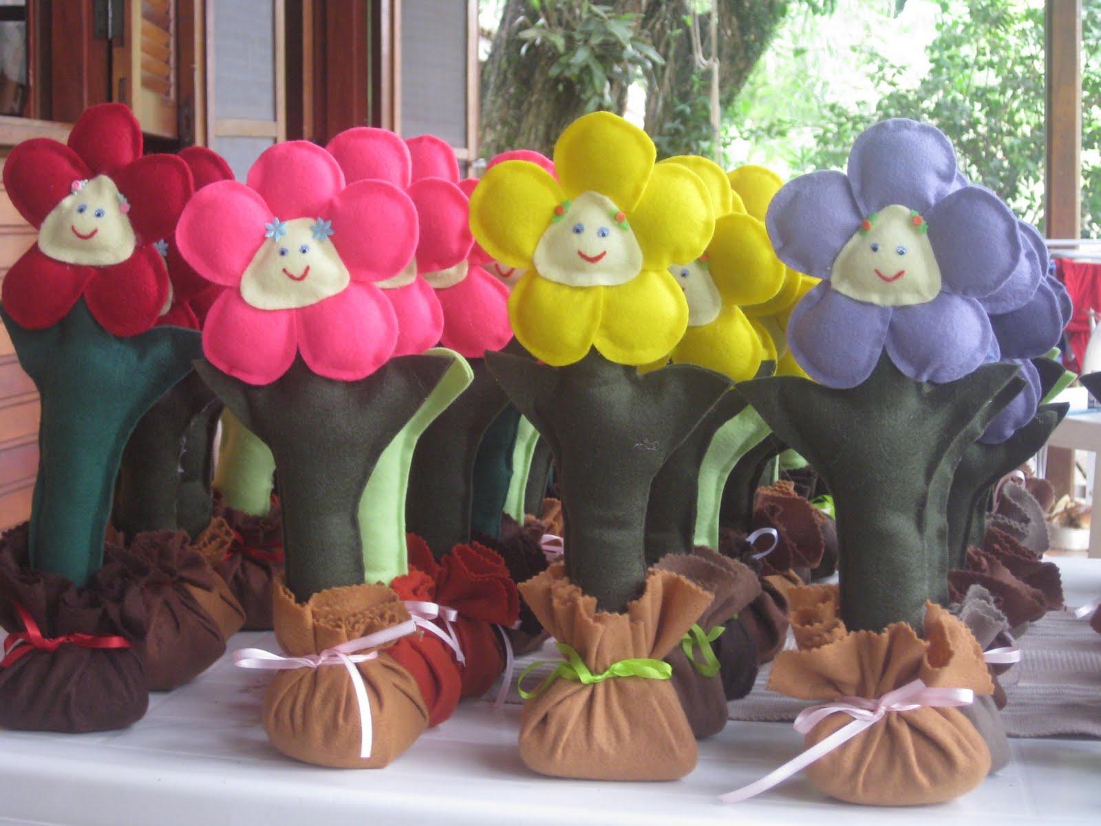 artesanato jardim encantado:Artesanatos em Feltro: Enfeite de mesa e lembrancinha jardim encantado