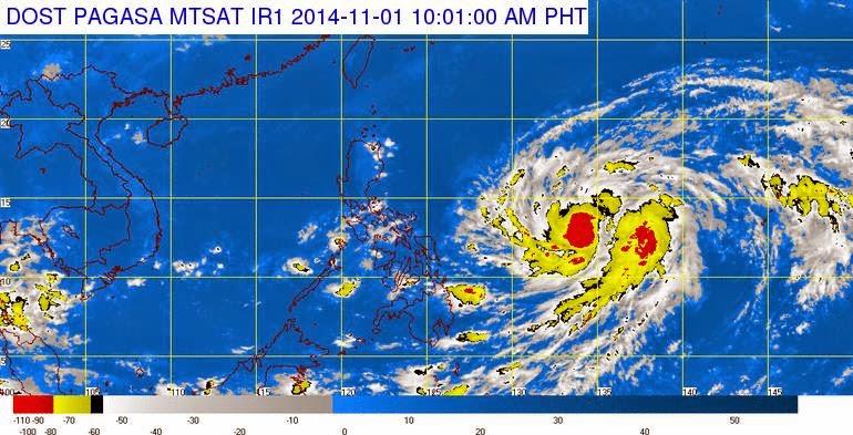 Typhoon Paeng weather update Nov 1, 2014