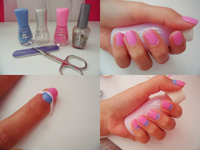 NAIL ART - 2 colors