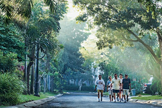 jogging track di Bintaro Jaya Perumahan Jakarta Selatan