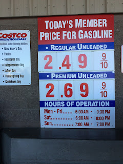 Costco gas for Feb. 14, 2015 at Redwood City, CA