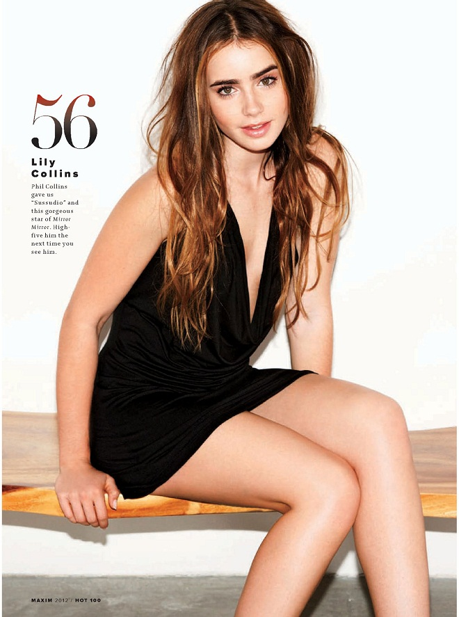 LILY-COLLINS - Maxim Hot 100