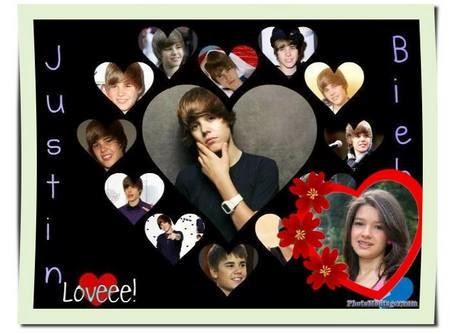 Montagem de fotos com Justin Bieber