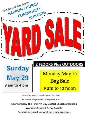 5-29/30 Hebron Yard Sale