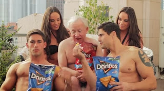 screen grab - Palm Springs Stage Favorite @TheLeslieJordan - Video - Leslie Jordan Go Bold! Doritos