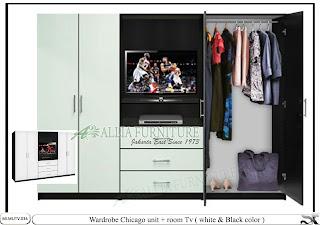 Lemari tv minimalis pakaian Chicago