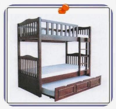 เตียงไม้ยางพารา 2 ชั้น