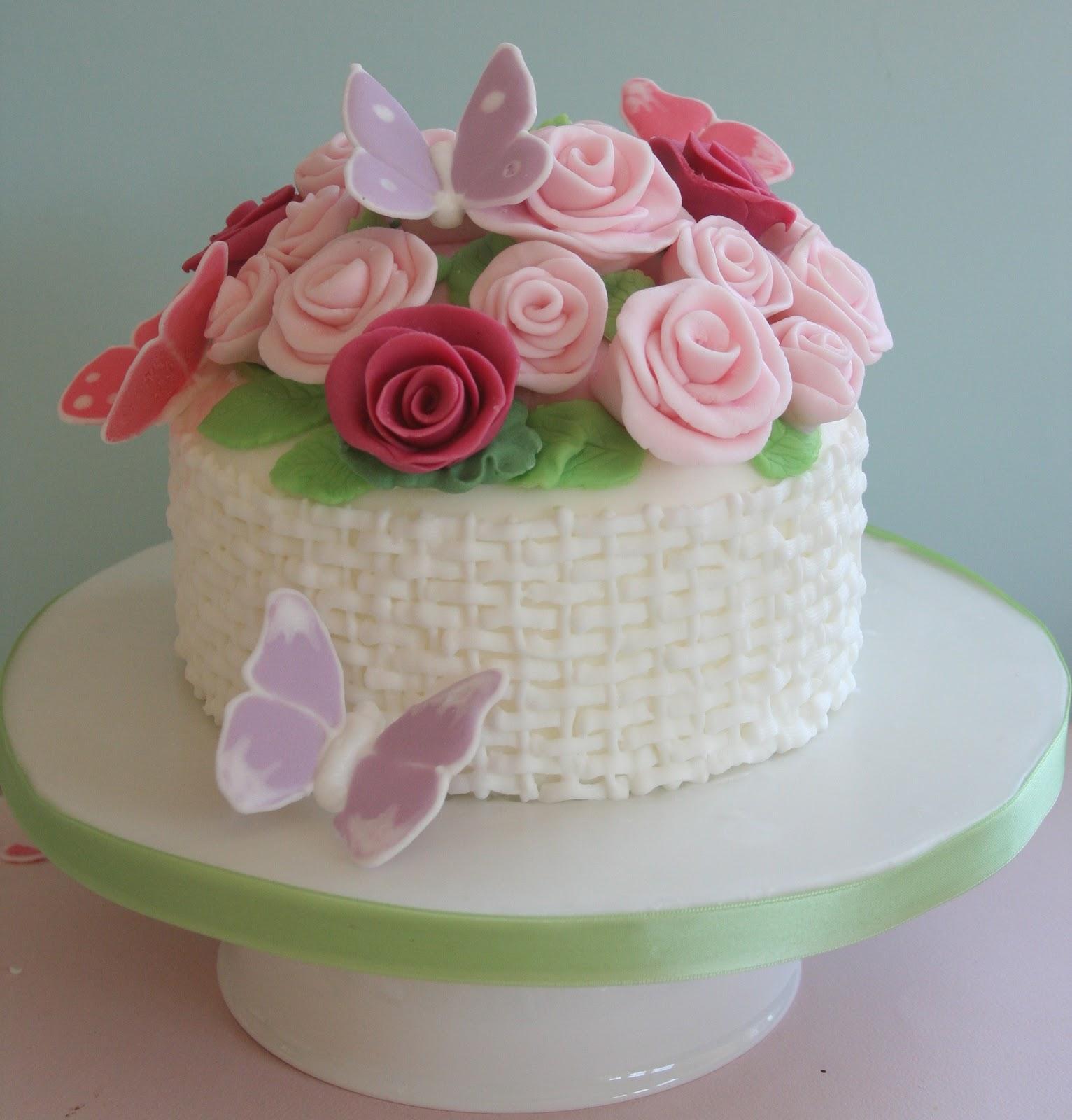Lemon Tree Bakery Basket Of Flowers And Butterflies