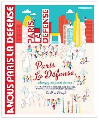 Clod illustration Paris, La Défense, Changez de point de vue