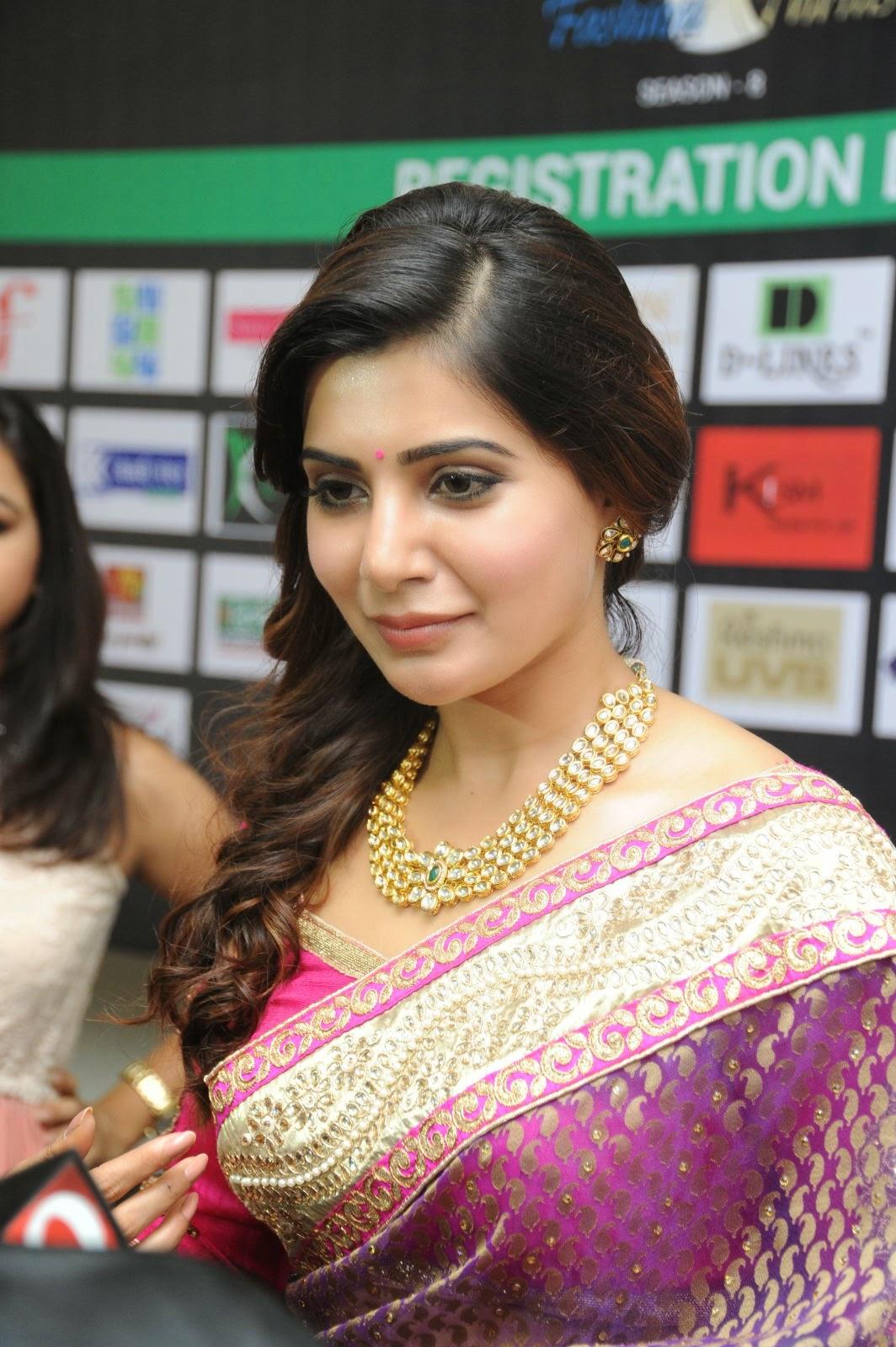 Samantha gorgeous photos in saree-HQ-Photo-4