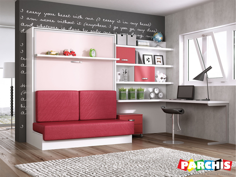 Parchis mueble juvenil e infantil ideas para decorar un for Sofa cama para habitacion juvenil