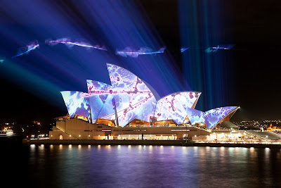 Beautiful Light In Sydney Opera House On The Night