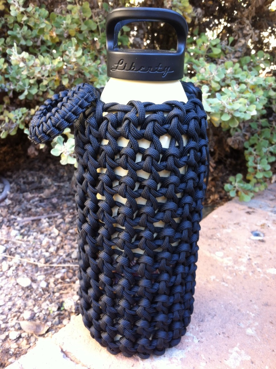 Wearartbyjulie liberty and jagermeister bottle koozies in for Paracord koozie how to make