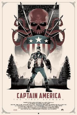 New York Comic Con 2015 Exclusive Captain America: The First Avenger Variant Marvel Screen Print by Matt Ferguson & Grey Matter Art