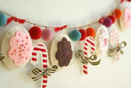 Lovepaperfish Felt Ball Christmas Garland Start Now