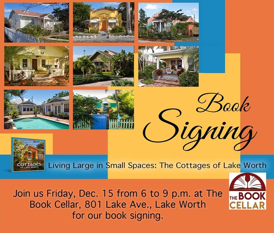 Tomorrow night, 6:00, The Book Cellar book- store in Lake Worth: