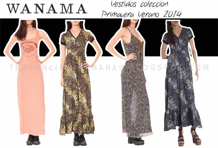 Wanama vestidos largos verano 2014
