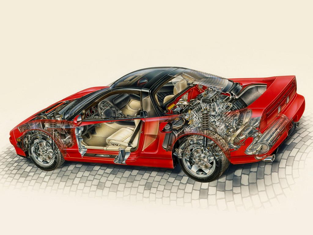 Honda NSX japoński supercar sportowy samochód kultowy V6 RWD VTEC 日本車 ホンダ アキュラ