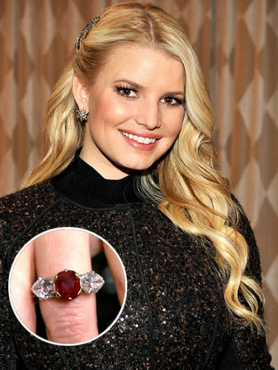Jessica Simpsons Engagement Ring Celebrity Engagement Rings