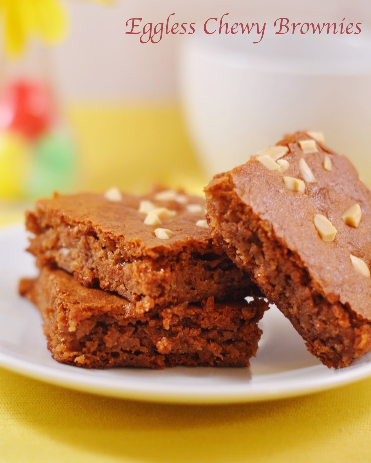 Eggless Chewy brownies