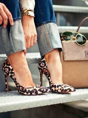 leopard print heels  classic heels