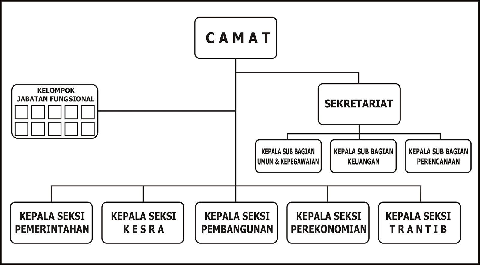 Hasil gambar untuk struktur organisasi kecamatan terbaru