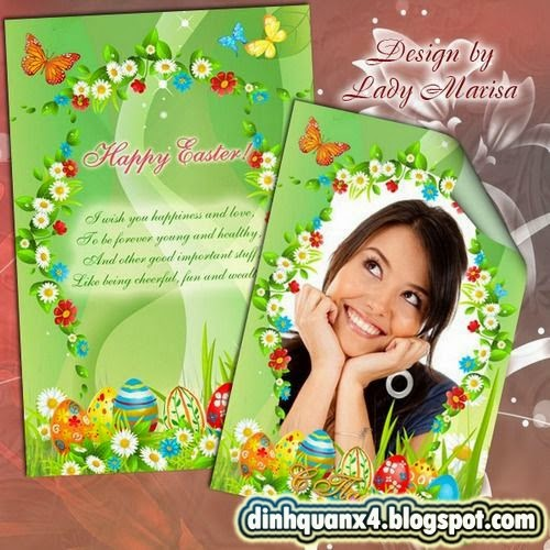 Greeting set – card and photoframe – Happy Easter - 3