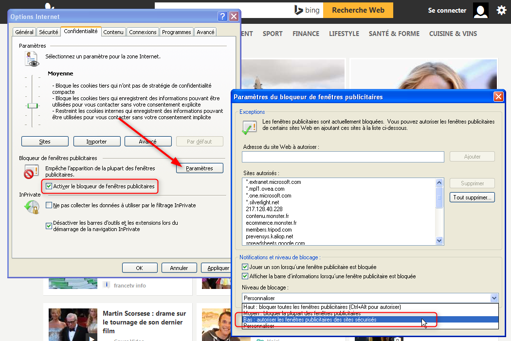 Comment installer google chrome partir d 39 internet for Fenetre windows 7 outils