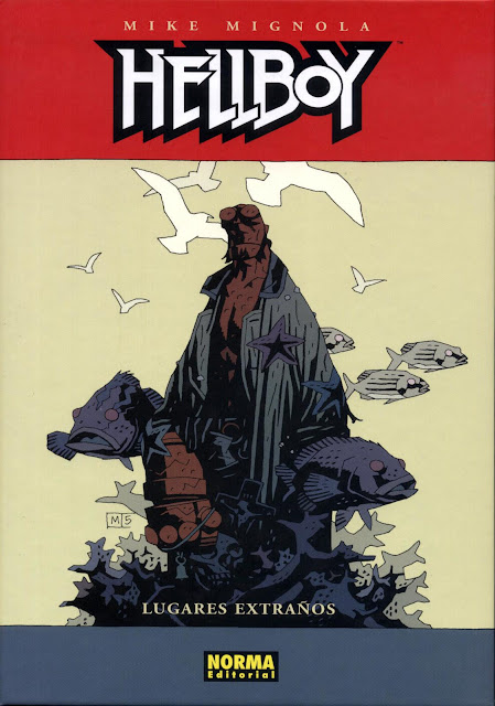 Portada del Tomo 9 Cartoné-Lugares extraños- de Hellboy Editorial Norma
