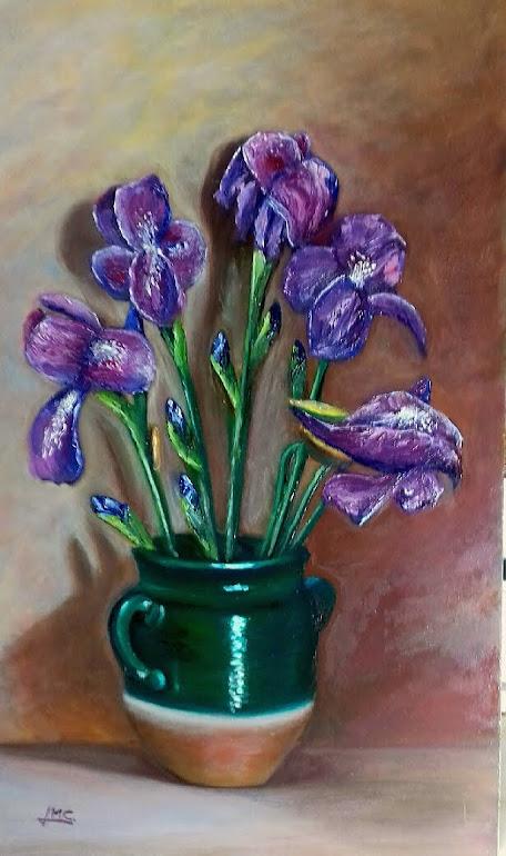 Bodegon Lirios/ Ceramica