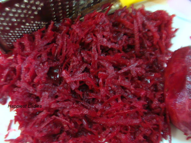 Beetroot dish for rice_grated beetroot+how to make beetroot