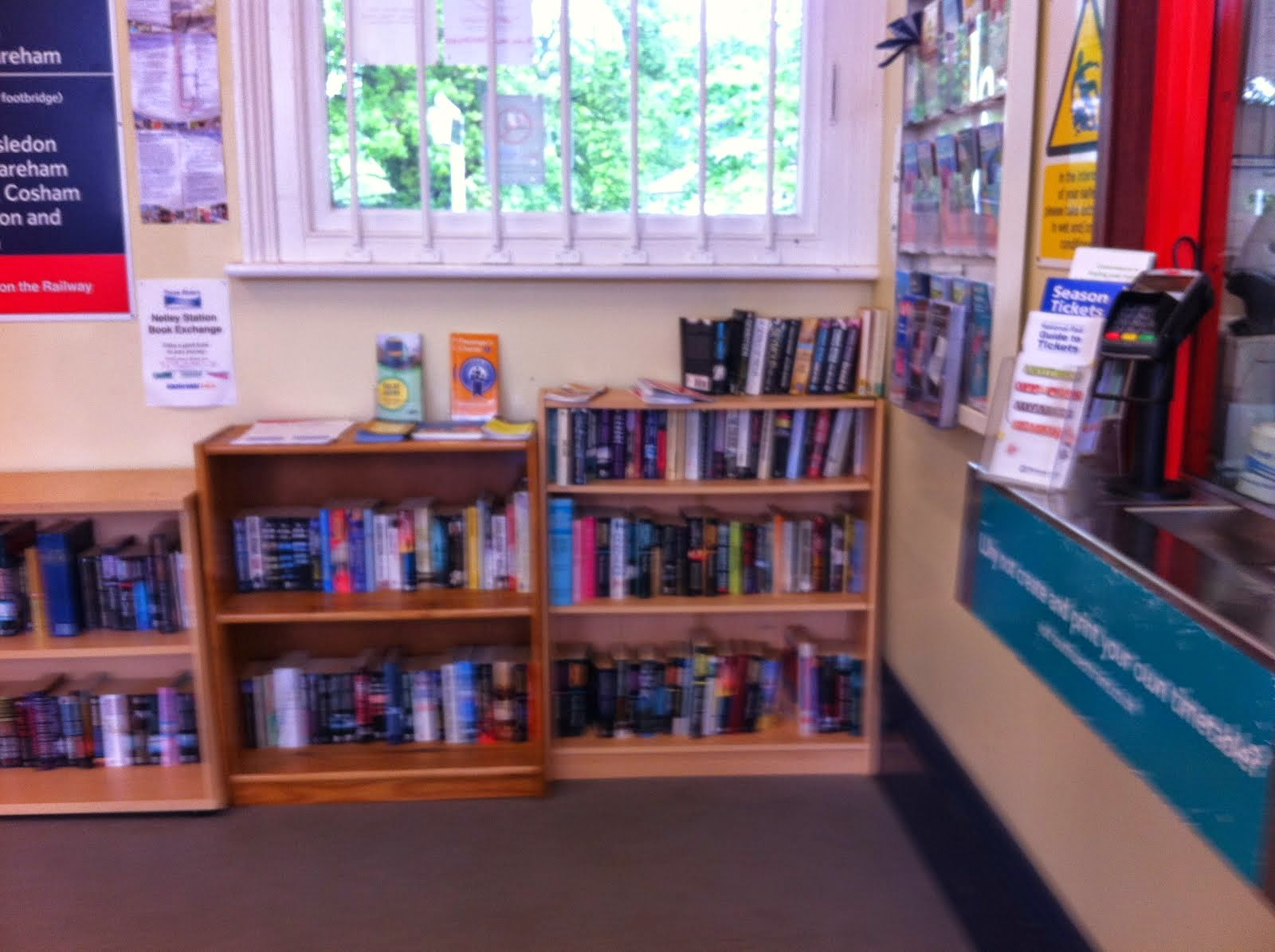 So civilised. Netley Station's own library...