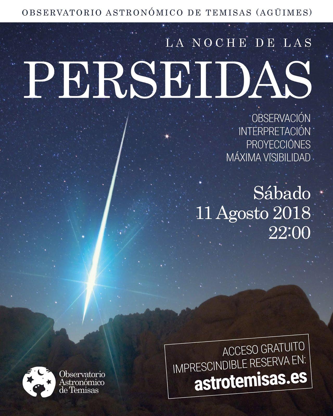 Las Perseidas en el Observatorio Astronómico de Temisas
