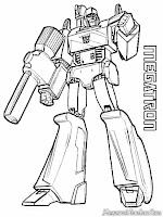 Mewarnai Gambar Megatron Transformer