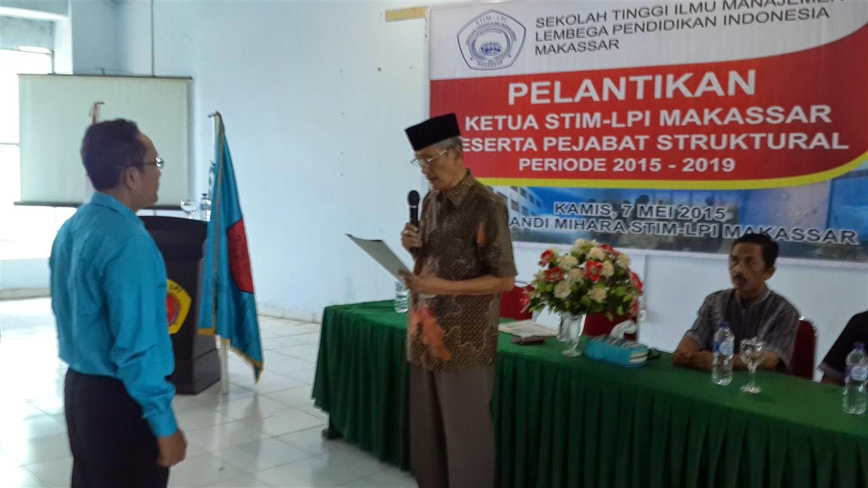 Pelantikan Ketua STIM-LPI Makassar