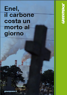 GREENPEACE:Enel, il carbone costa un morto al giorno