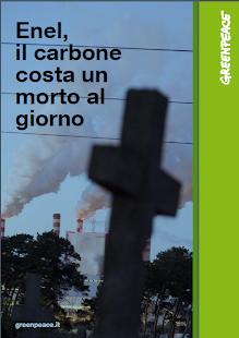 GREENPEACE:Enel, il carbone costa un morto al giorno