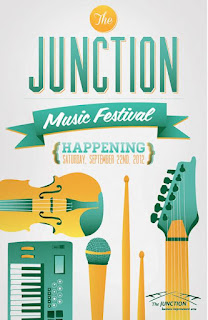 West Toronto Junction Music Festival, September 22nd, 2012, poster by thejunctionbia.ca