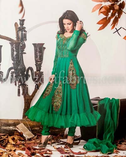 Zobi Fabrics Latest Party Wear Outfits Collection 2013 For girls Women 9 - Zobi Fabrics Latest Party Wear Outfits