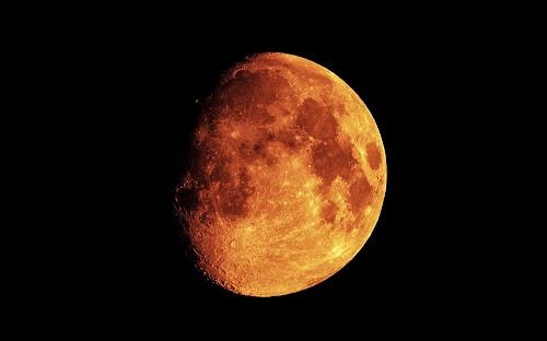 Ao vivo eclipse Lua sangrenta, Lua vermelha, Lua de sangue.