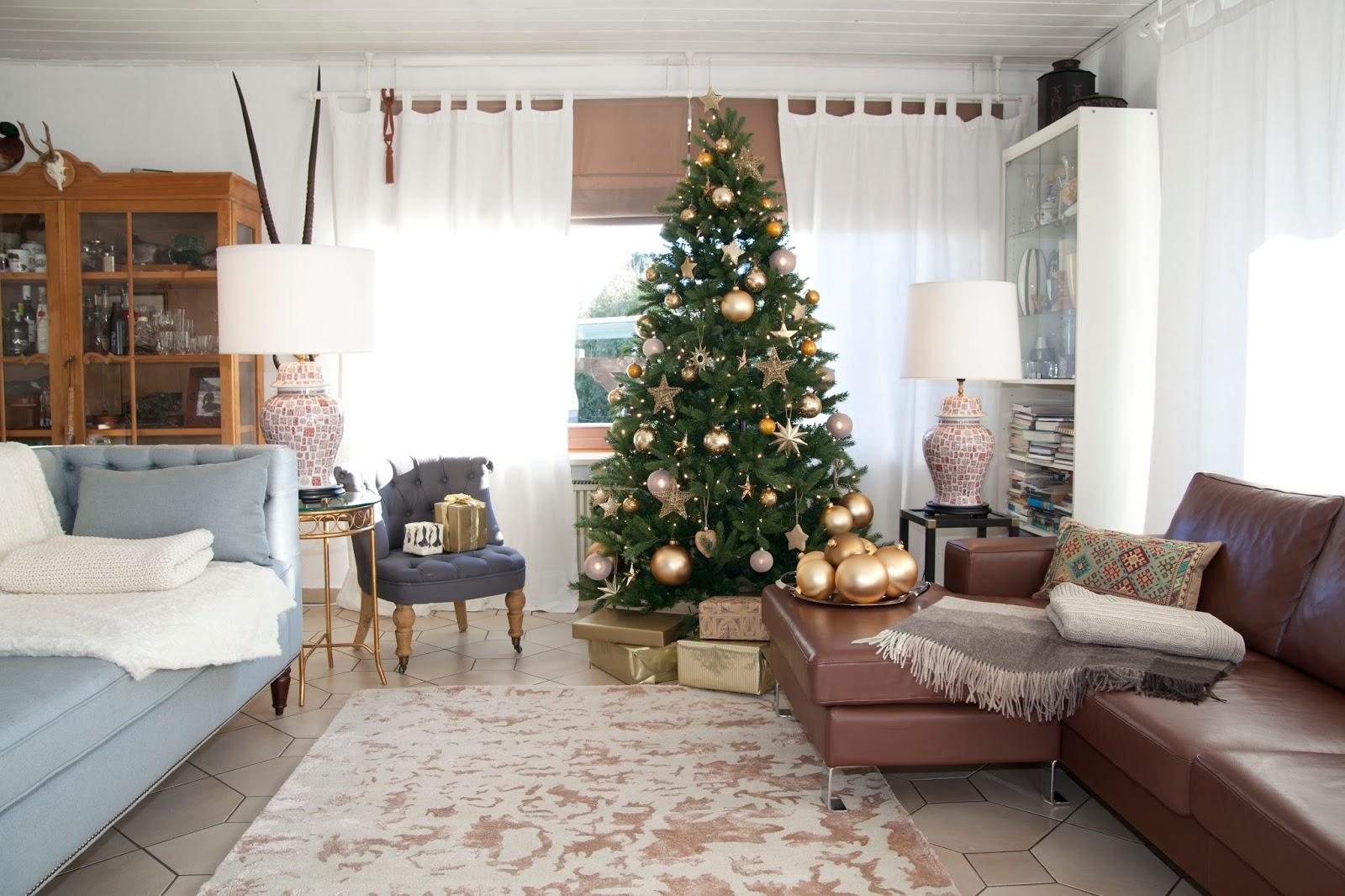 Decorar salón en navidad
