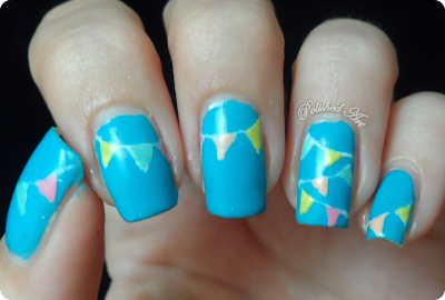 Summer-bunting-nail-art-Barry-M-Gelly-in-Guava