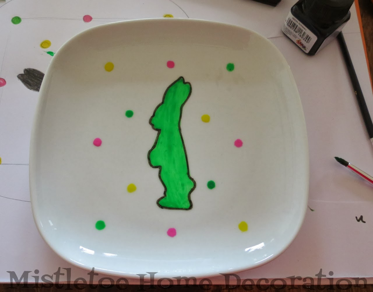Mistletoe Home Designs: DIY porcelain painting